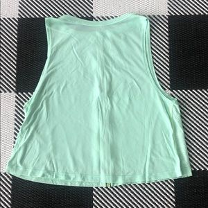 Ivivva muscle tank slightly cropped mint green